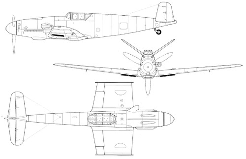 Messerschmitt Bf 109 V-Tail