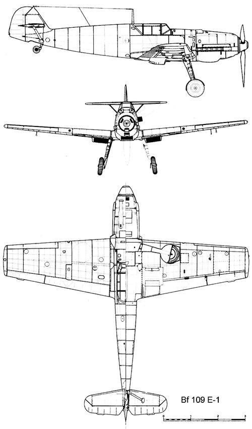 Messerschmitt Bf 109E-1 'Emil'