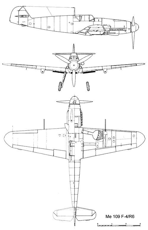 Messerschmitt Bf 109F-4R6 'Friedrich'