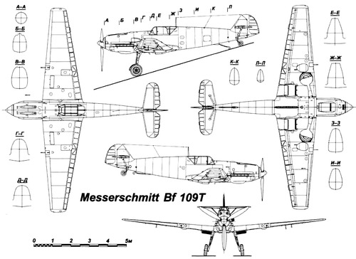 Messerschmitt Bf 109T 'Toni'