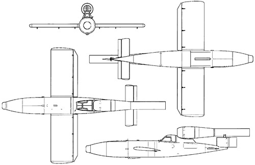 Fieseler Fi-103 Re-4 (V-1 Piloted Flying Bomb)
