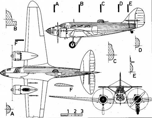 Aero A 304 medium bomber Cechoslovakia (1937)