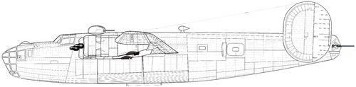 B-24D liberator Port side