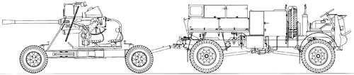 Bedford QLB + Bofors 40mm AA