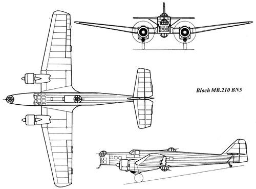 Bloch MB.210 BN5
