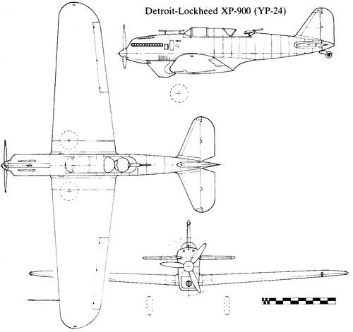 Detroit-Lockheed XP-900 (YP-24)