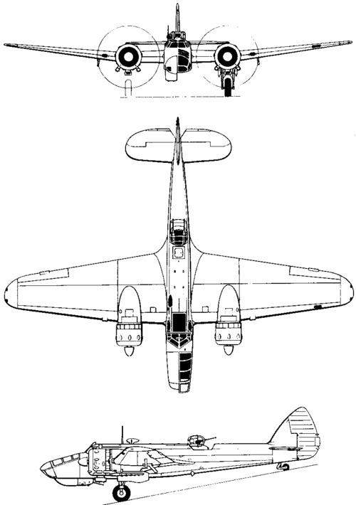 Bristol 142M, 149, 160 Blenheim (1936)