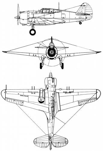 Curtiss P-36 Hawk 75 A3