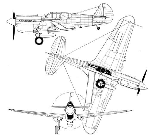 Curtiss P-40D Warhawk