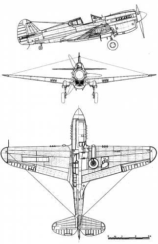 Curtiss P-40E Kittyhawk