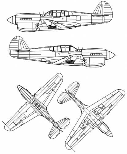 Curtiss P-40E Kittyhawk Mk. Ia