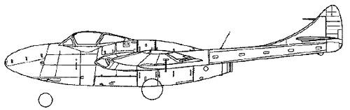 de Havilland DH.115 Vampire T.11
