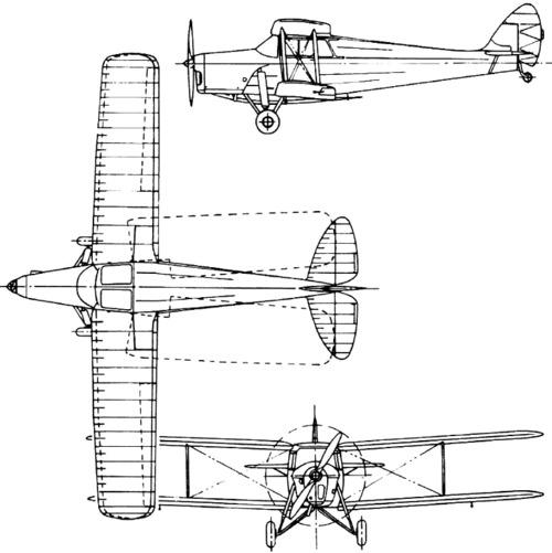 de Havilland DH.87 Hornet Moth (1934)