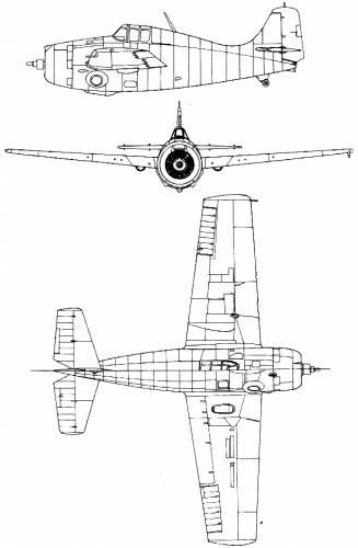 Grumman F4F4 Wildcat