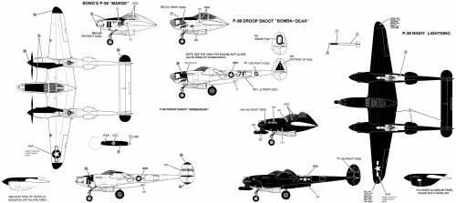 Lockheed P-38 Lightning Variations