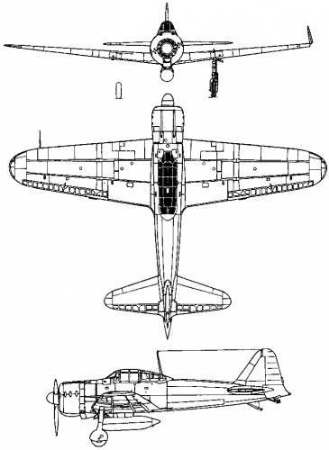 Mitsubishi A6M2-K Reisen (Zero)