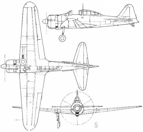 Mitsubishi A6M2-K (Zero)