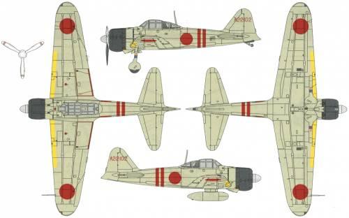 Mitsubishi A6M2b Reisen Zero