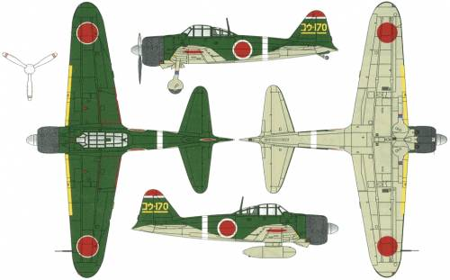 Mitsubishi A6M2c Reisen Zero
