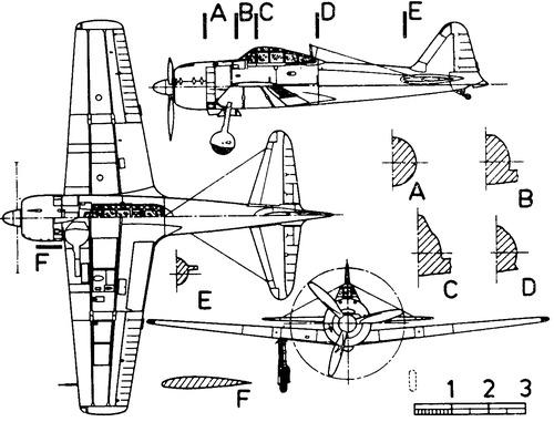 Mitsubishi A6M3 Zero Model 32 (Hamp)