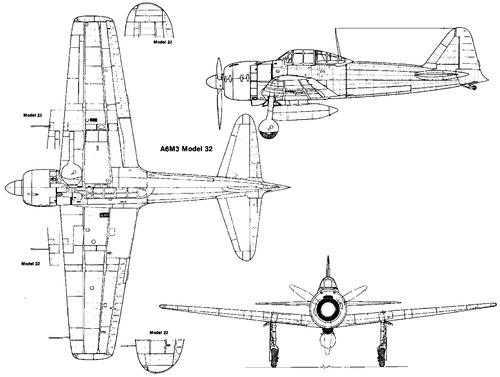 Mitsubishi A6M3 Zero (Zeke)