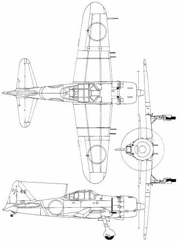 Mitsubishi A6M5 Zeke 52