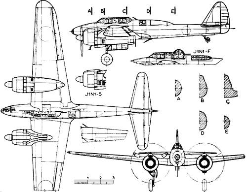 Nakajima J1N1 Gekko [Irving]