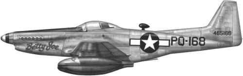 North American F-82B Twin Mustang