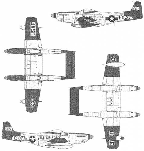 North American F-82H Twin Mustang