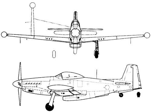 North American NA-133 Mustang