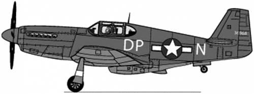 North American P-51B Mustang II