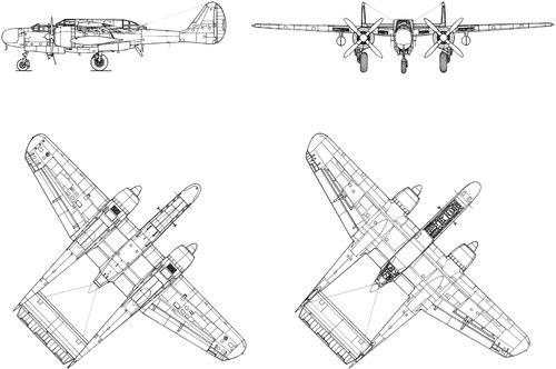 Northrop P-61A-5-NO Black Widdow