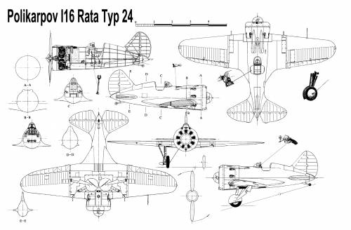 Polikarpov I-16 Type 24 Chaika - Rata