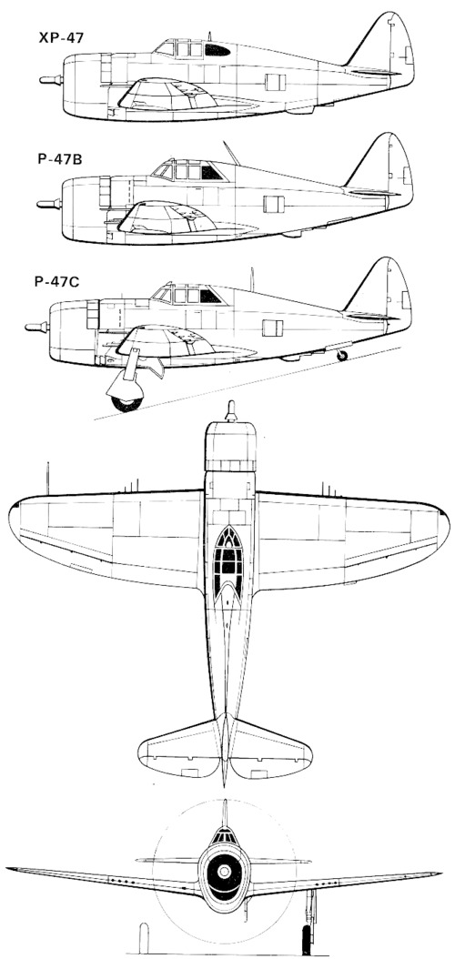 Republic P-47-1 Thunderbolt