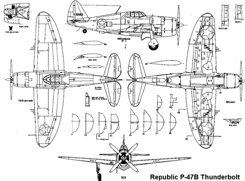 Republic P-47B Thunderbolt