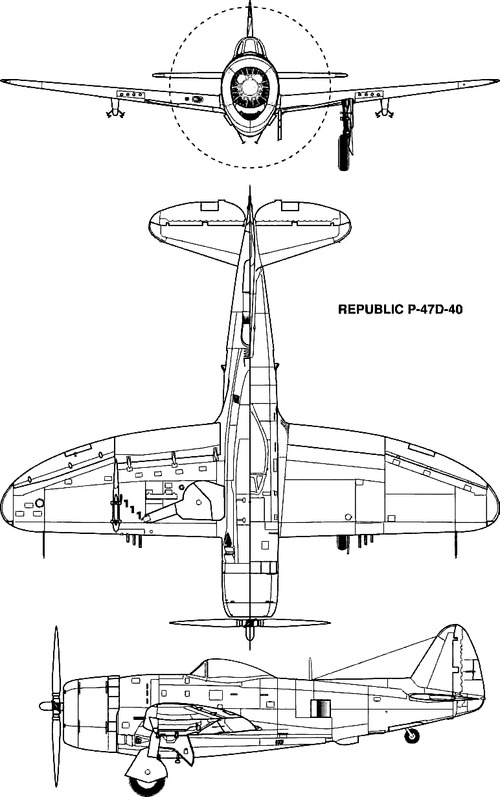 Republic P-47D-40 Thunderbolt