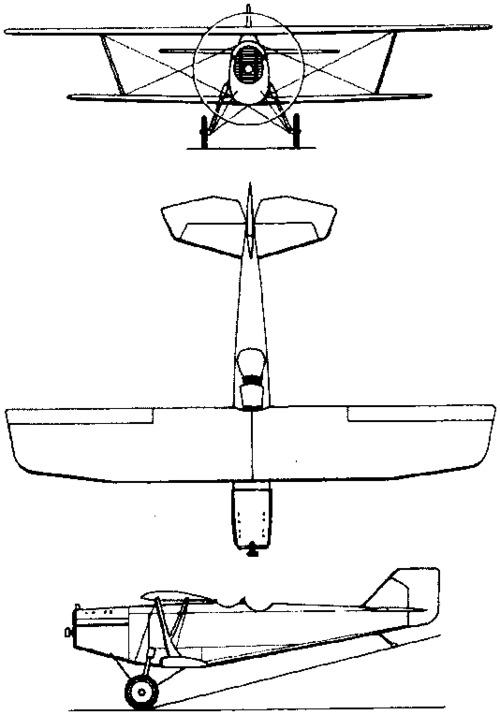 Tupolev ANT-3 / R-3  (1925)