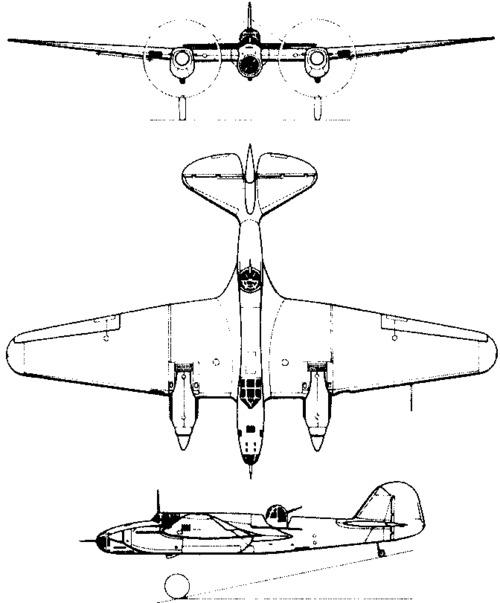 Tupolev ANT-40 / SB-2 / Ar-2 (1934)