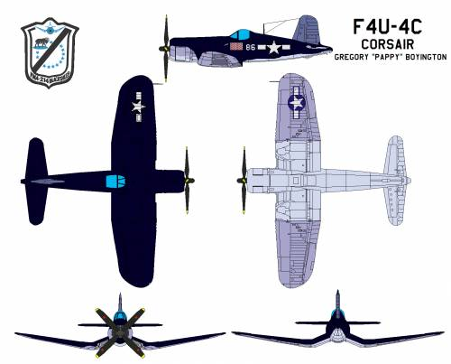 Chance Vought F4U4 Corsair