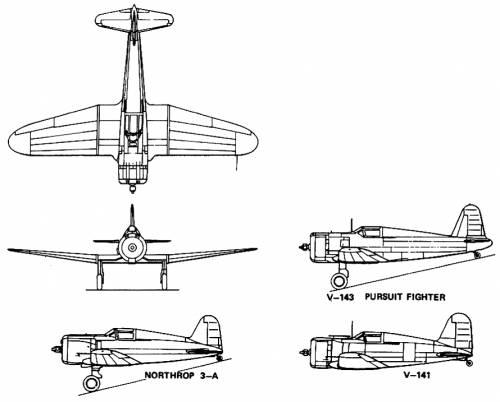 Vought 3-A V-141 V-143