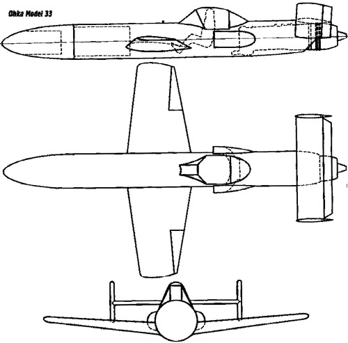 Yokosuka MXY-7 Ohka Model 33