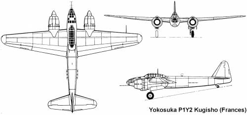 Yokosuka P1Y2 Kugisho (Frances)