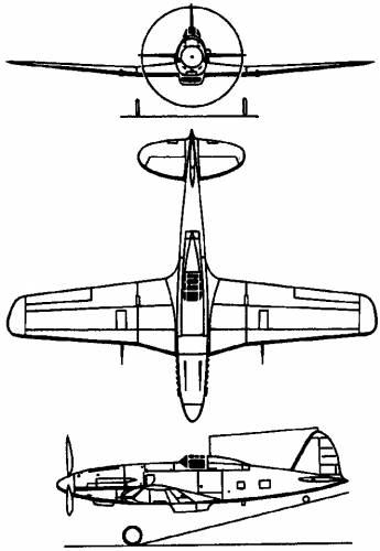 Fiat G.55 Centauro (Italy) (1942)