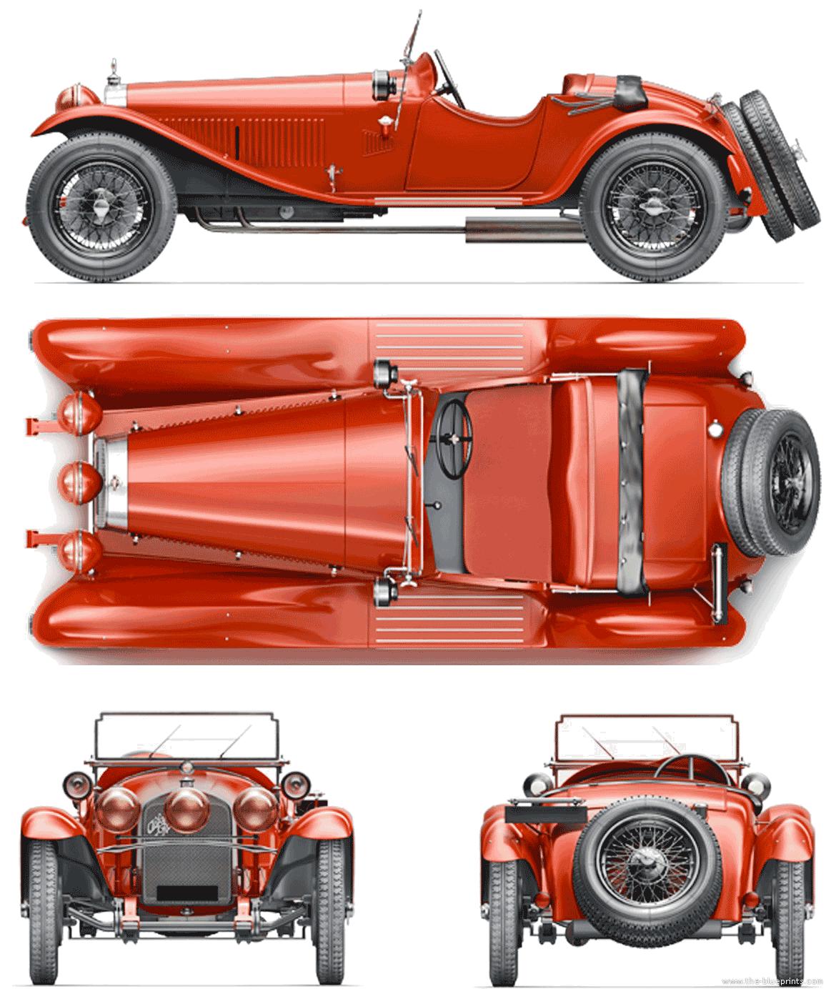 Blueprints > Cars > Alfa Romeo > Alfa Romeo 6C 1750 GS