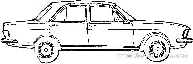 Audi 100 GL (1974)