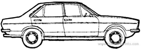Audi 80 GL 4-Door (1973)