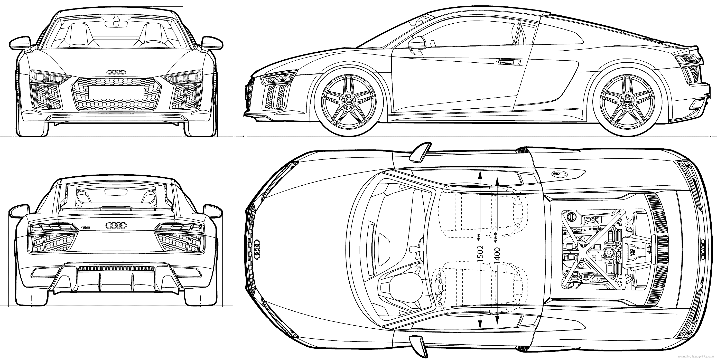 Blueprints Gt Cars Gt Audi Gt Audi R8 2015