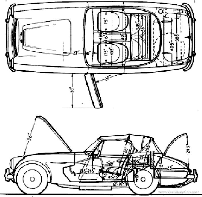 blueprints  u0026gt  cars  u0026gt  austin  u0026gt  austin healey 3000 mk iii  1964