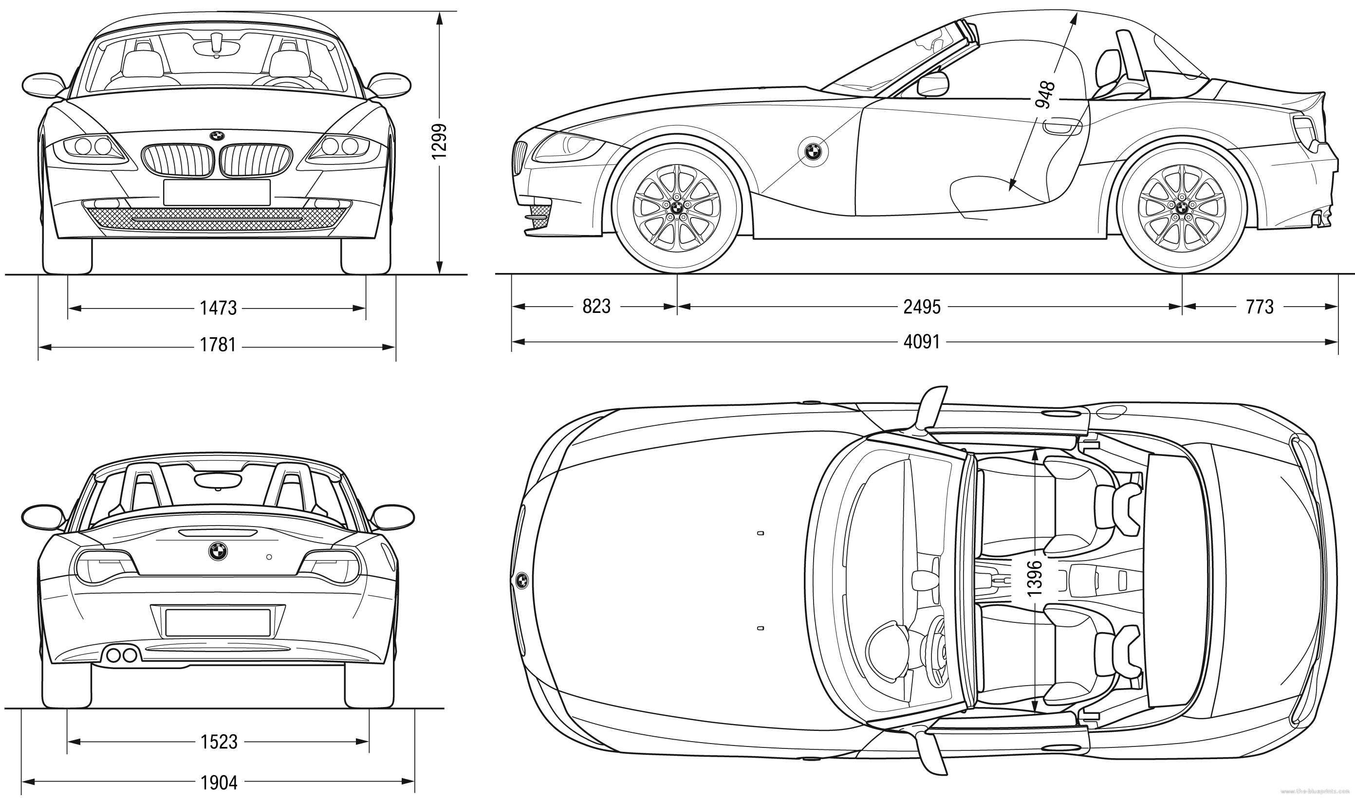 Blueprints Gt Cars Gt Bmw Gt Bmw Z4 Roadster E85 2007