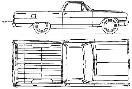 Blueprints Gt Cars Gt Chevrolet Gt Chevrolet El Camino 1964